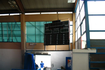 electronic scoreboards basketball, volleyball, handball, electronic chronometers for indoor arenas